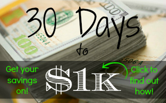 Adam Carroll 30 Days to $1k Get Your Savings On!